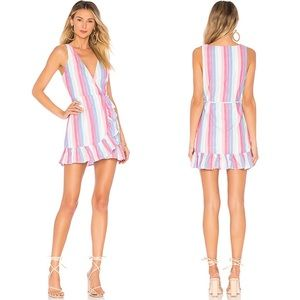 Privacy Please Revolve Striped Wrap Dress